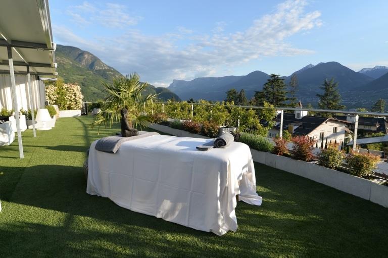 Suite unter freiem Himmel im Hotel Ansistz Plantitscherhof in Meran